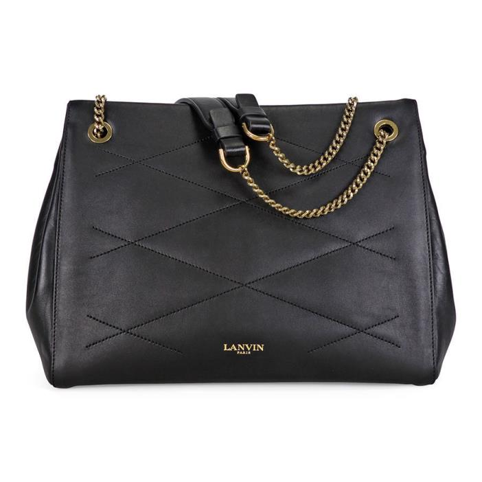 Lanvin Sugar Quilt med Lthr Shoulder Bag Black nwt 2495.00 net a porter current