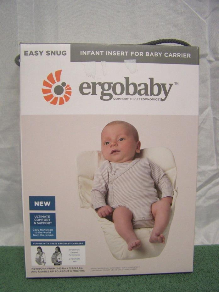 ERGOBABY EASY SNUG INFANT INSERT FOR BABY CARRIER