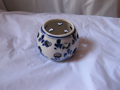 2 Delfts Blue Handpainted Candle Holder Made in Holland