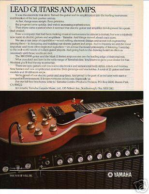 1983 LEAD GUITARS AND AMPS YAMAHA AD