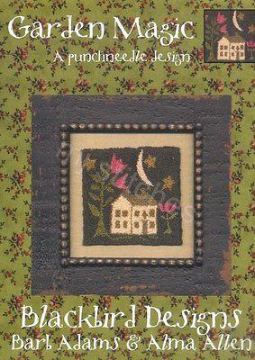 BLACKBIRD DESIGNS GARDEN MAGIC PUNCHNEEDLE DESIGN, RETIRED