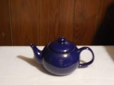 Vintage Cobalt Blue Pottery Ceramic Teapot