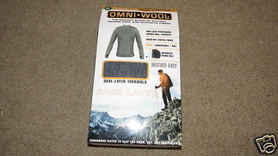 NEW Omni Wool OmniWool Zip Top Base Layer Thermal Top - Merino Wool - Mens XL