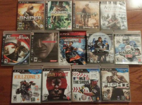 13 PS3 Games Lot Killzone MGS Assassins Creed Madden CoD Prince of Persia + More