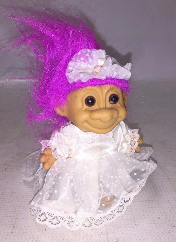 Bride TROLL - by RUSS - Wedding Dress and Veil - Purple Hair