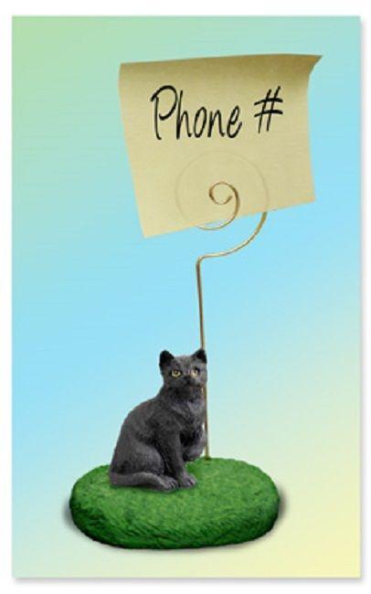 Shorthaired Black Cat Memo Holder