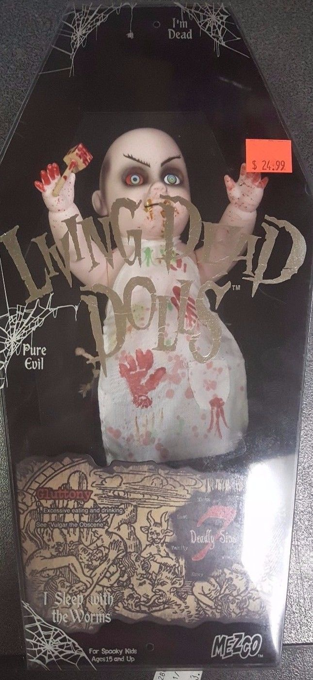 Living Dead Dolls GLUTTONY Series 7 Deadly Sins Goth Doll