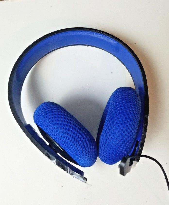 Sony Silver Wired Blue Headband Headsets for Sony PlayStation 4