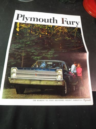 Original 1965 Plymouth Fury Sales Brochure