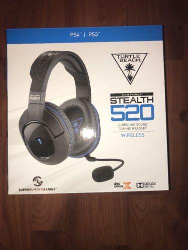 Turtle Beach Stealth 520 Black/Blue Headband Headsets for Sony PlayStation 4