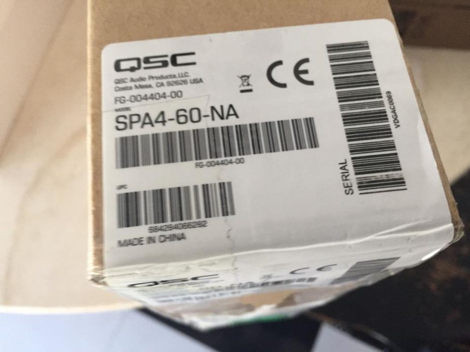 QSC SPA4-60 4x60W, 2x250W EnergyStar Power Amplifier