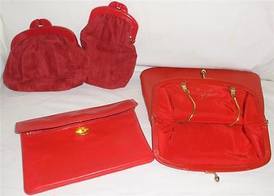 Collection Beautiful Vintage Red Purses