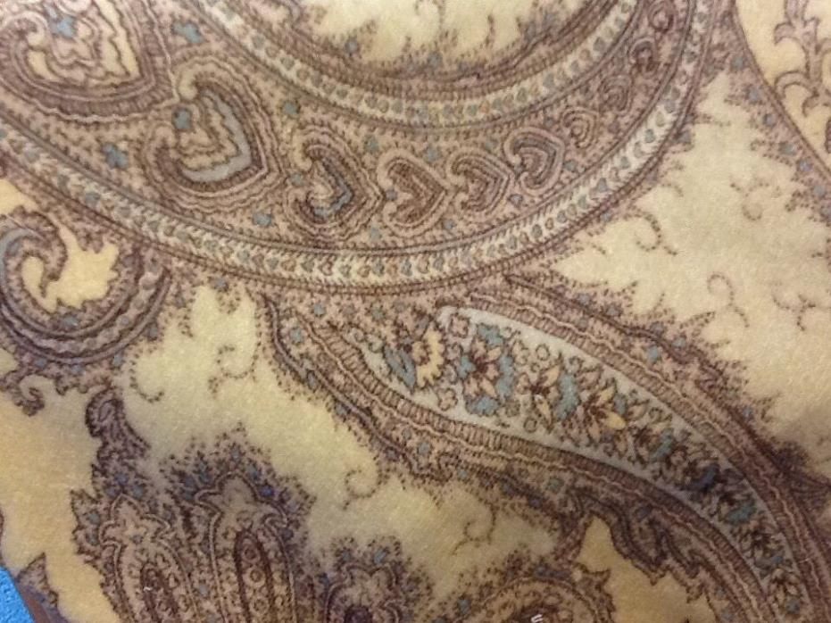 VINTAGE INSPIRED PAISLEY COTTON VELVET FABRIC REMNANT