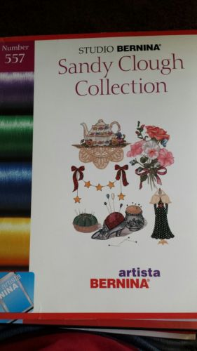 STUDIO BERNINA Artista SANDY CLOUGH COLLECTION Number 557 Embroidery Card