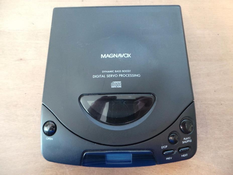 Vintage Magnavox Portable CD Player Walkman Discman Bass Boost AZ6841 Retro