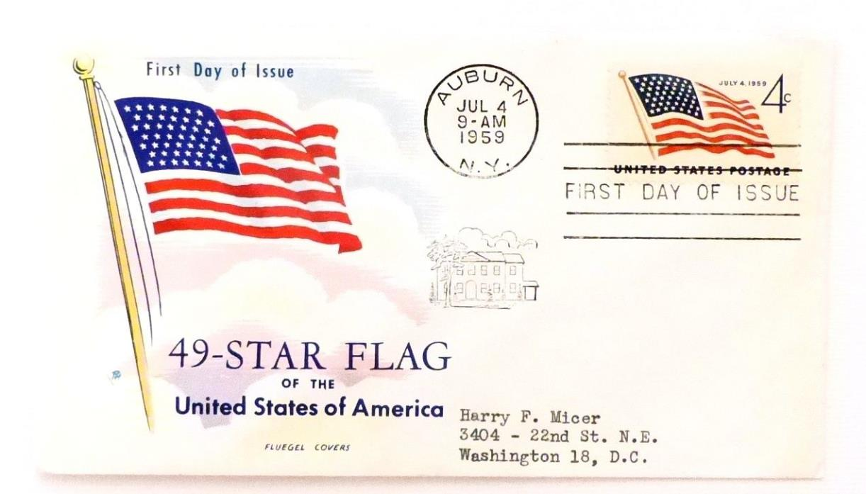 US FDC - 1132 - 49 Star Flag of the United States - 7/4/1959 - Fluegel  - VF