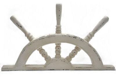 Wood Half Boat Steering Wheel Decor 21