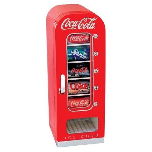 Retro-Coca-Cola-Vending-Machine-Cooler-Mini-Fridge-Refrigerator-Office-RV-Coke