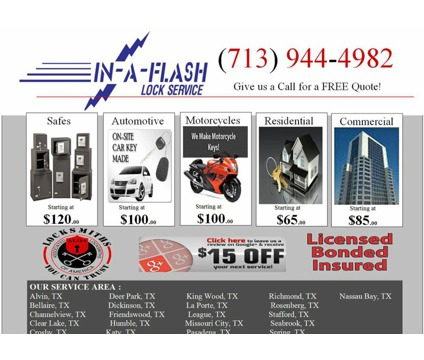 Locksmith, residential, commercial, motorcycle, automotive