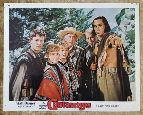 IN SEARCH OF THE CASTAWAYS (Verne's) 1962 Original Walt Disney Lobby Card Poster