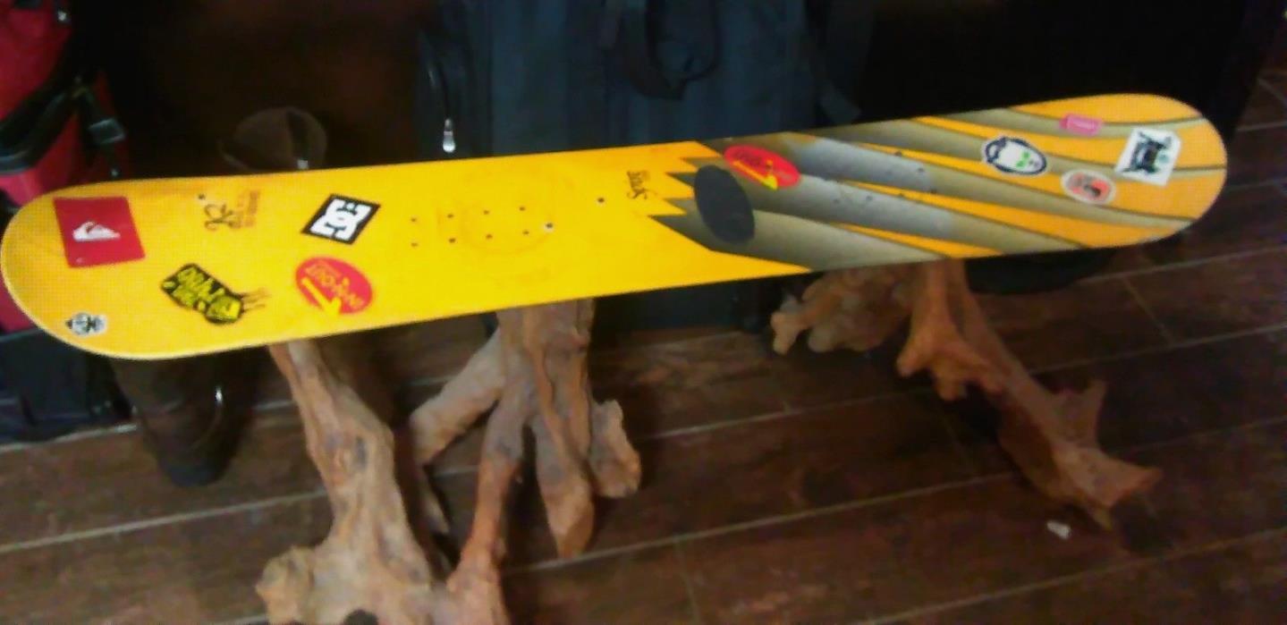 Handmade Custom Snowboard Bench