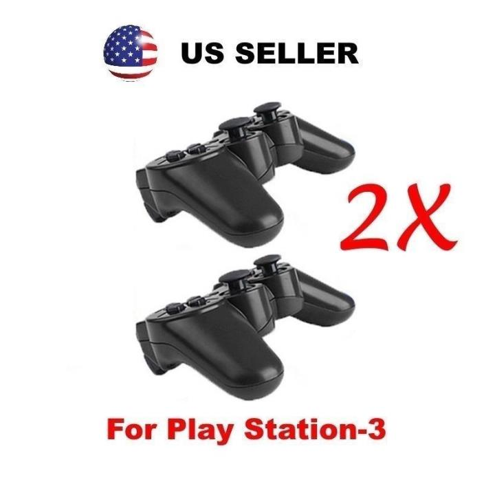 2X Doubleshock 3 Wireless Bluetooth Game Controller for SONY Playstation3 PS3!!!