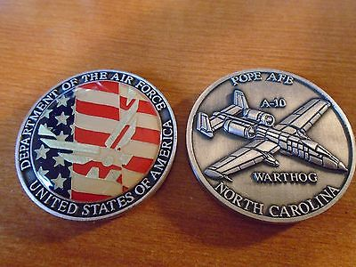 Dept. Of The Air Force A-10 Warthog Pope AFB North Carolina Challenge Coin New