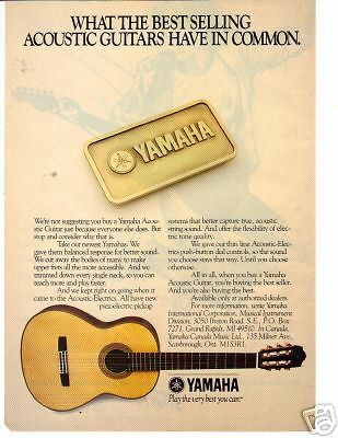 1987 THE BEST SELLING ACOUSTIC GUITAR YAMAHA AD
