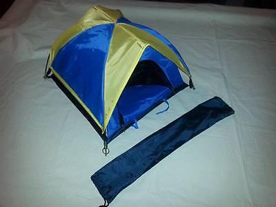 Miniature Store Display Tent Salesman Sample GI Joe Barbie Yellow Blue