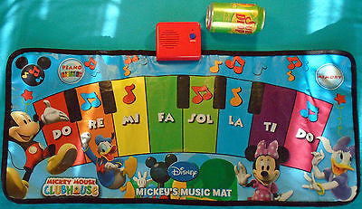 Mickey Mouse Clubhouse Music Mat, Disney Floor Electronic Interactive Piano