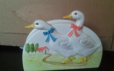 OTAGIRI Japan ceramic  Duck napkin holder