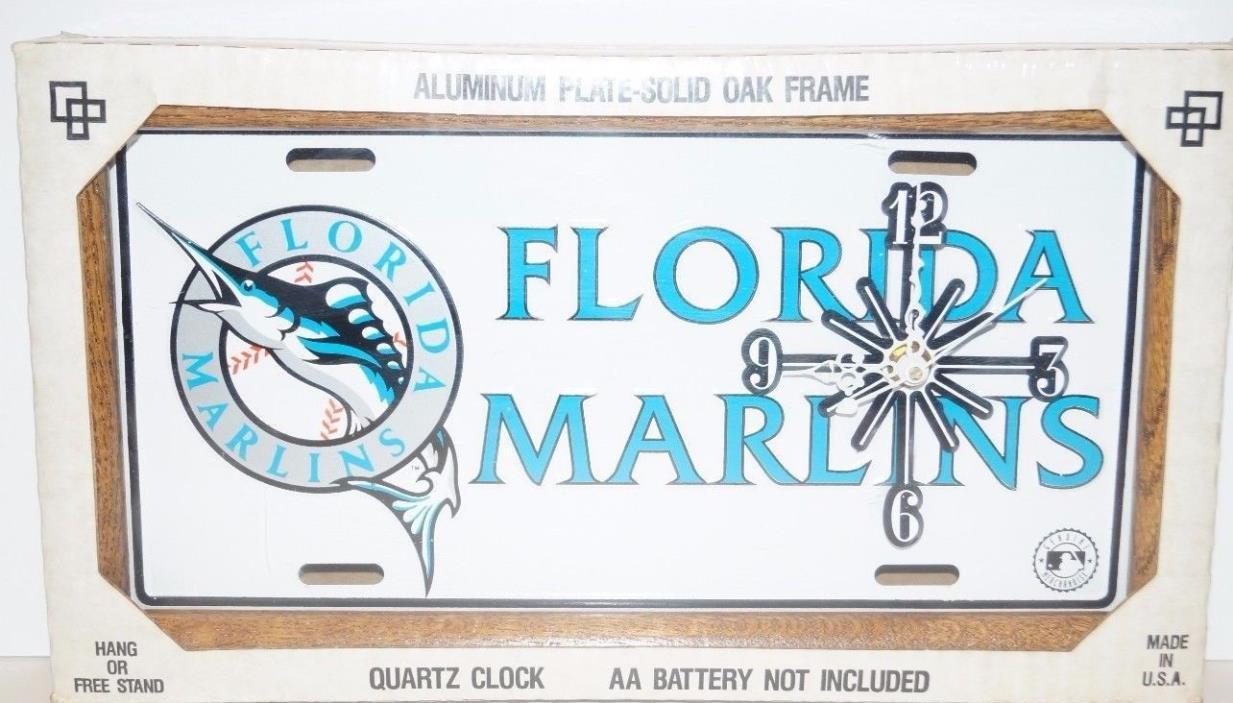 Florida Marlins Quartz Clock