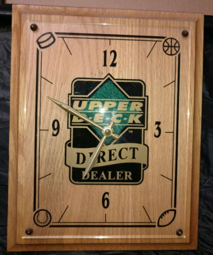 UPPER DECK DIRECT DEALER WALL CLOCK 1991-'92 BASEBALL BASKETBALL FOOTBALL HOCKEY
