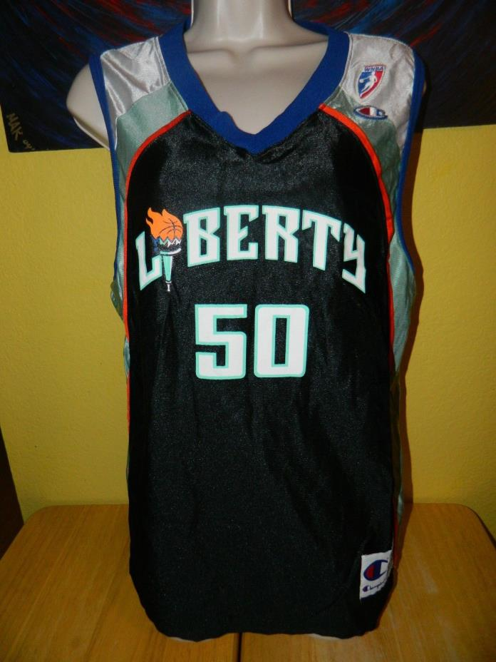 Women's Champion WNBA New York Liberty Rebecca Lobo #50 Basketball Jersey Medium