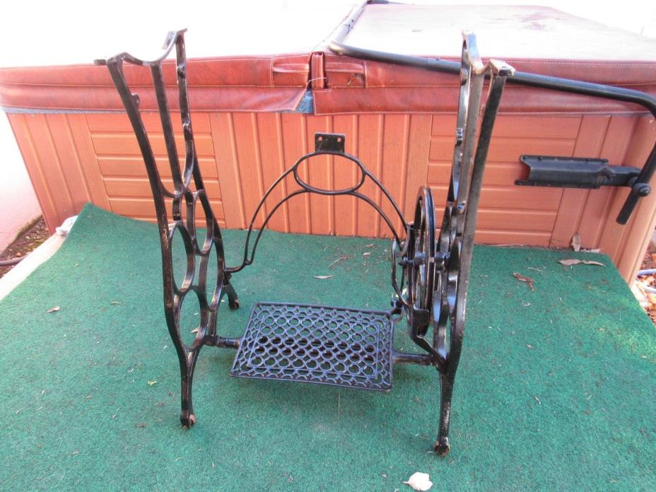 cast iron treadle from antique sewing Machine