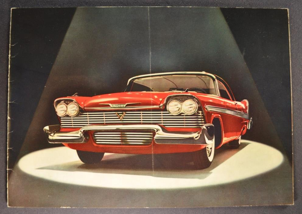 1958 Plymouth Catalog Brochure Fury Belvedere Savoy Plaza Nice Original 58