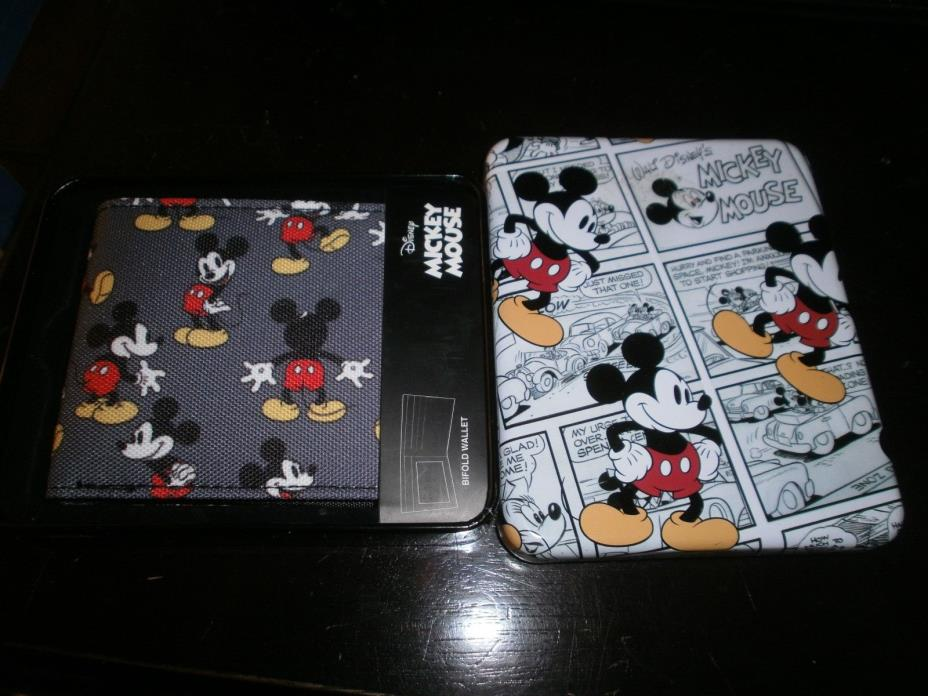 Disney Mickey Mouse Wallet with Collectable Tin