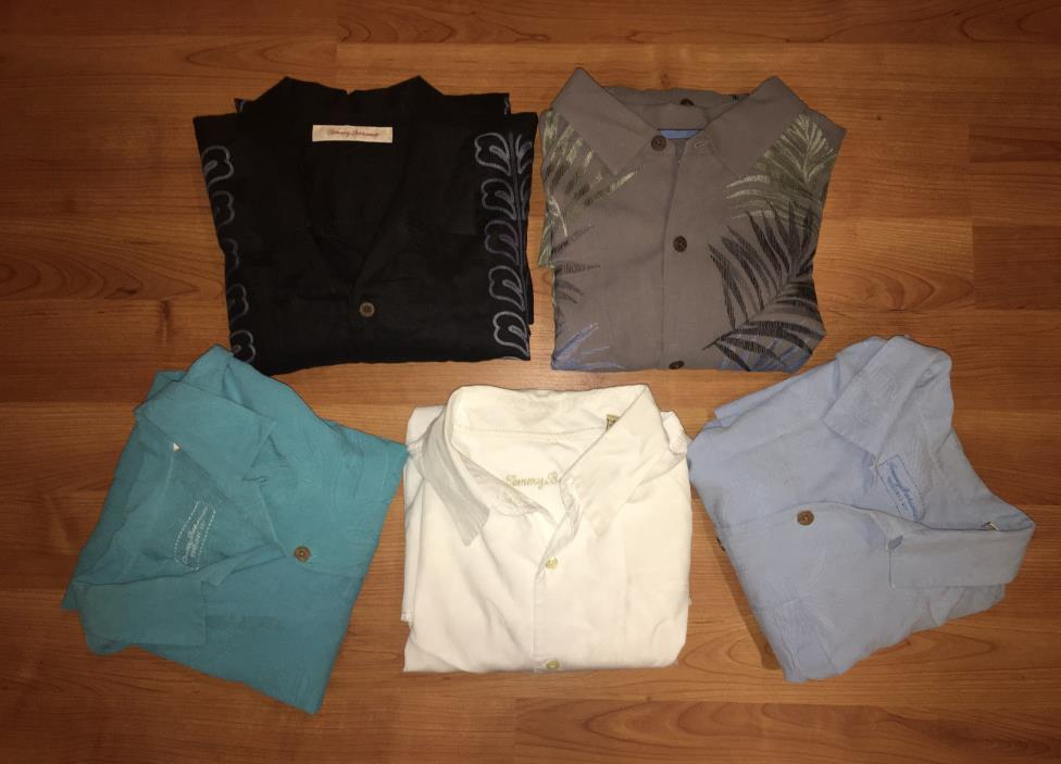 Amazing lot of 5 Tommy Bahama Shirts Size XL-look!!