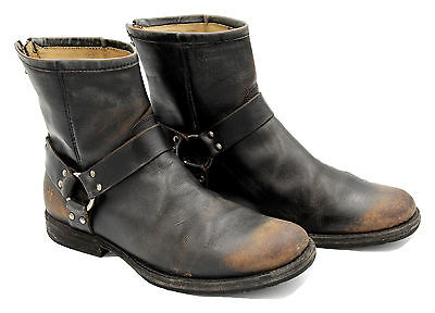 The Frye Company Men's Phillip Harness Boots Black Size 10 Pre-owned