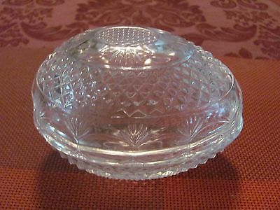 Avon Pineapple Glass Easter Candy Egg Trinket Covered Dish Collectible