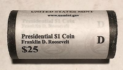 HEAD/TAILS 2014 D Franklin D Roosevelt President Dollar Coin US Mint Sealed Roll