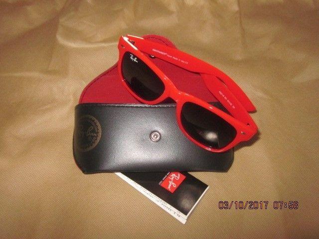Ray Ban Red Wayfarer RB2140 901 50mm Sunglasses & Case