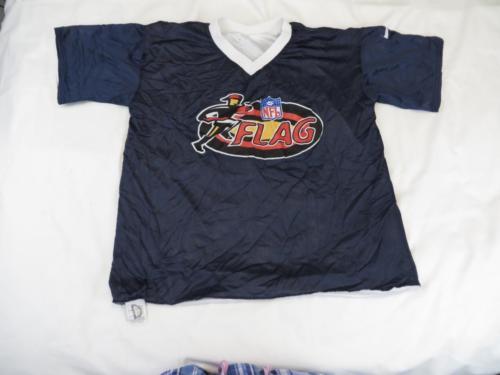 Used Flaws Nike Mens Black & White Reversible Flag Football NFL Jersey Sz L XL