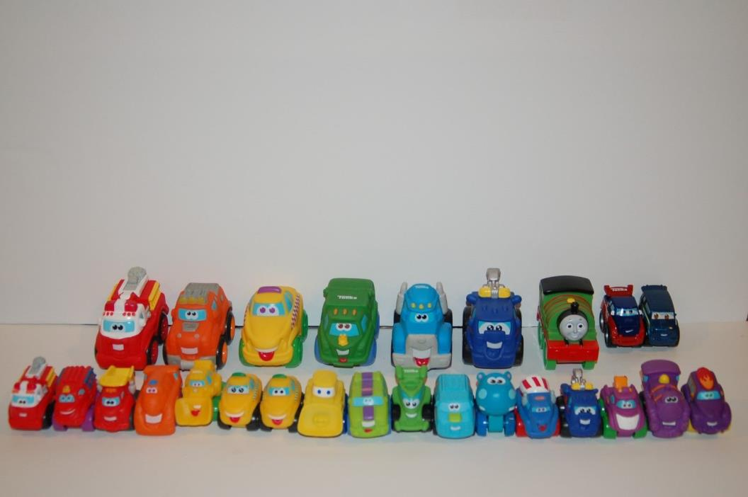 Lot 26 Tonka Hasbro Chunky Mini Chuck the Truck and Friends Rubber Toddler Vehic