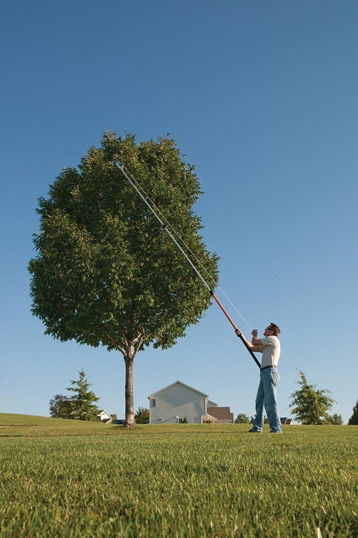 Tree Pruner Saw Pole Trimmer Branch Reach Cutter 16 Ft Garden Cordless NEW