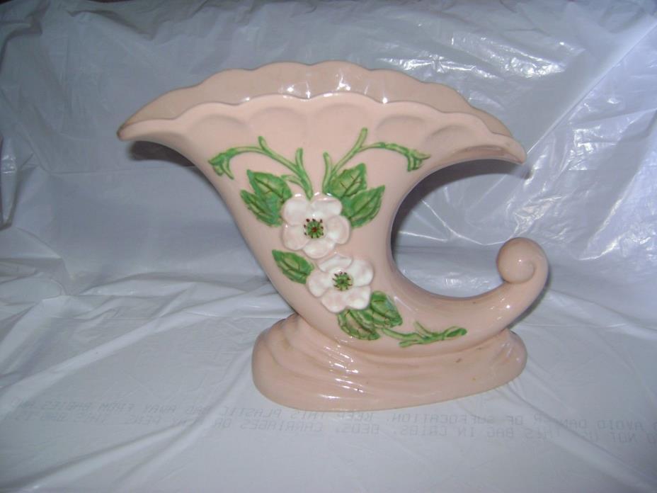 Vintage Hull Art Pottery Cornucopia Flower Vase
