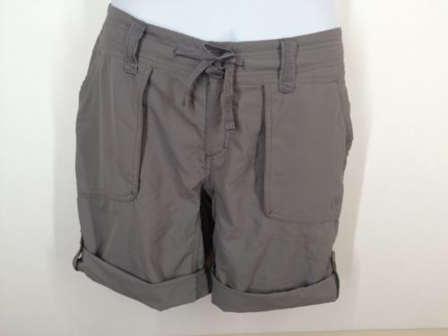 North Face Women's size 6 Roll Up Shorts NWOT Outdoors Camping Hiking Gray