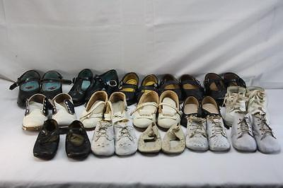 Vintage Lot 15 pair Childs Toddler Doll Shoes Free Shipping