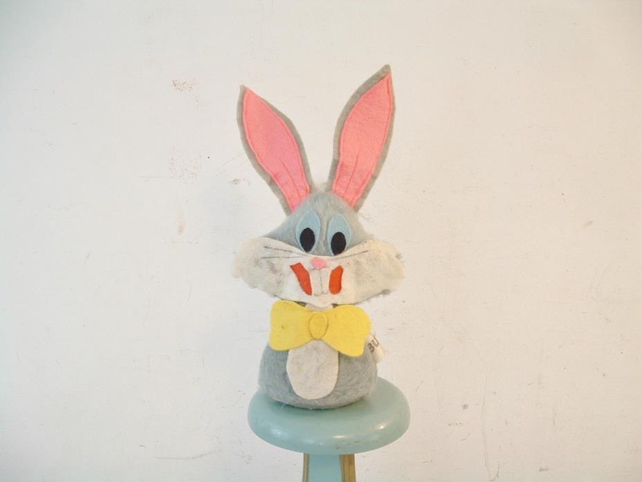 Vintage 1975 Bugs Bunny Toy Plush Cloth Bean Bag Doll Warner Bros. Russ Berrie