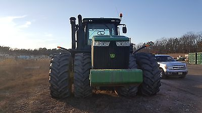 2014 John Deere 9560R 4WD Tractor w/ Two Ejector Scrapers (2008 and 2009 2112E)
